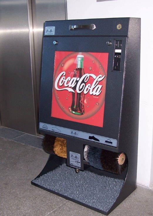 Logobank - 🥇PUCYBUT urządzenia maszyny automaty do czyszczenia obuwia butów podeszw